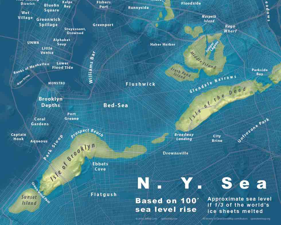 brooklyn under water map